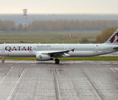 Qatar Airways A7 ADS Airbus A321 231 at Domodedovo International Airport