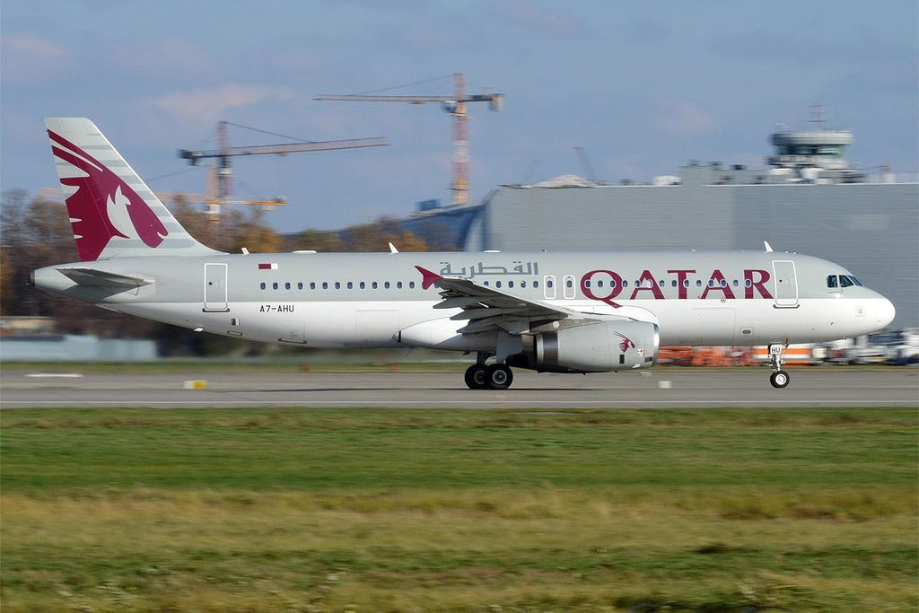 Qatar Airways A7 AHU Airbus A320 232 at Moscow Domodedovo International Airport