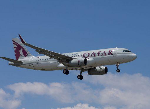 Qatar Airways A7 AHX Airbus A320 232 at Geneva International Airport