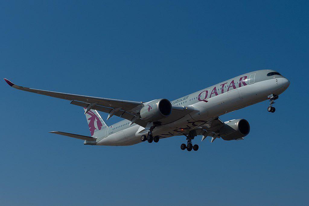 Qatar Airways A7 ALD Airbus A350 941 at Geneva International Airport