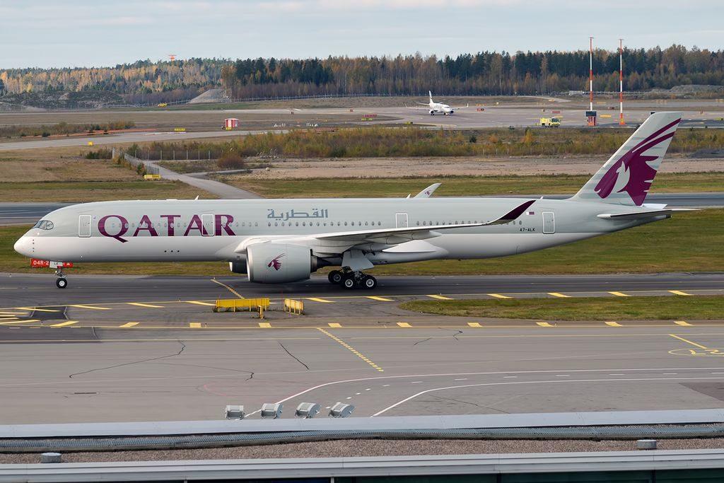 Qatar Airways A7 ALK Airbus A350 941 at Helsinki Vantaa Airport
