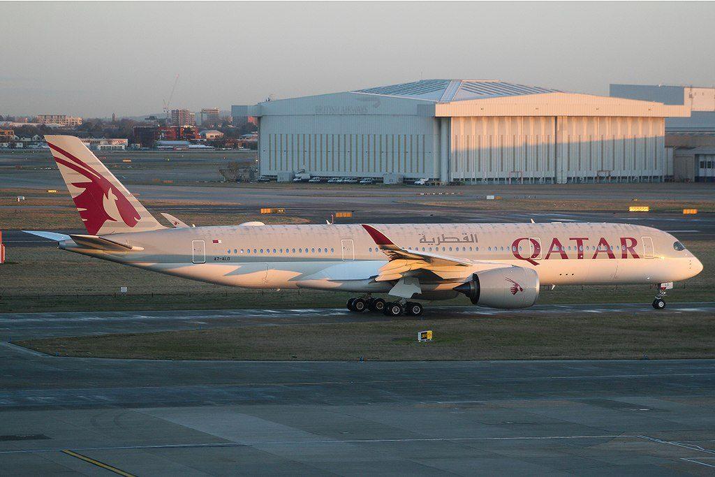 Qatar Airways A7 ALO Airbus A350 941 at London Heathrow Airport