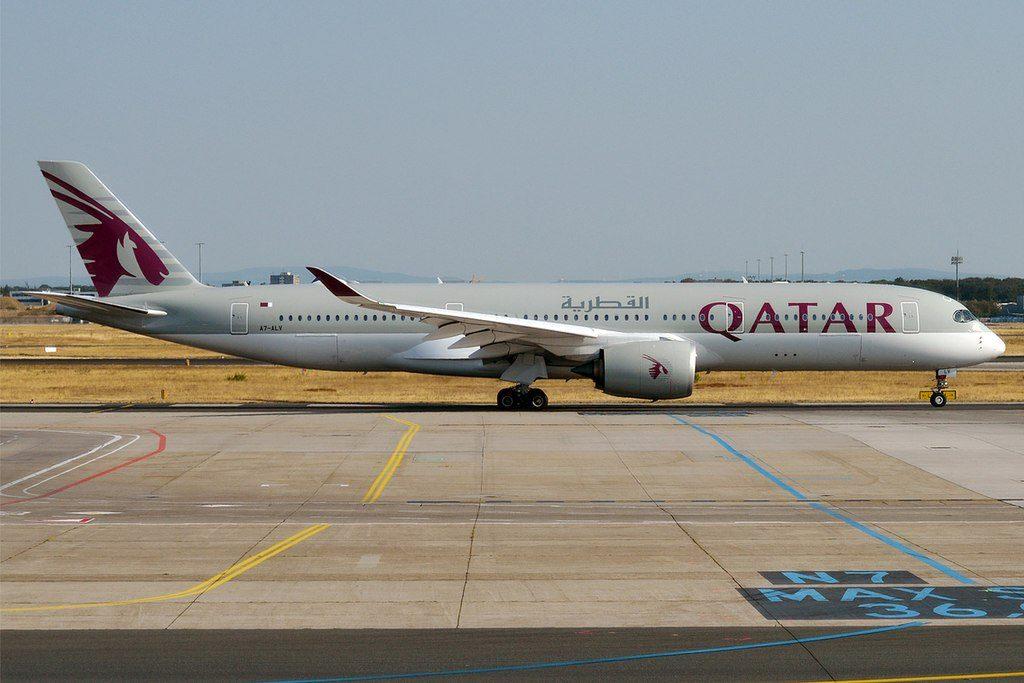 Qatar Airways A7 ALV Airbus A350 941 at Frankfurt Airport