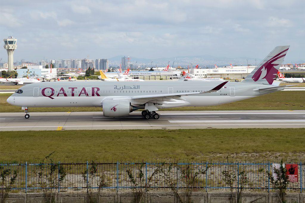 Qatar Airways A7 ALW Airbus A350 941 at Istanbul Atatürk Airport