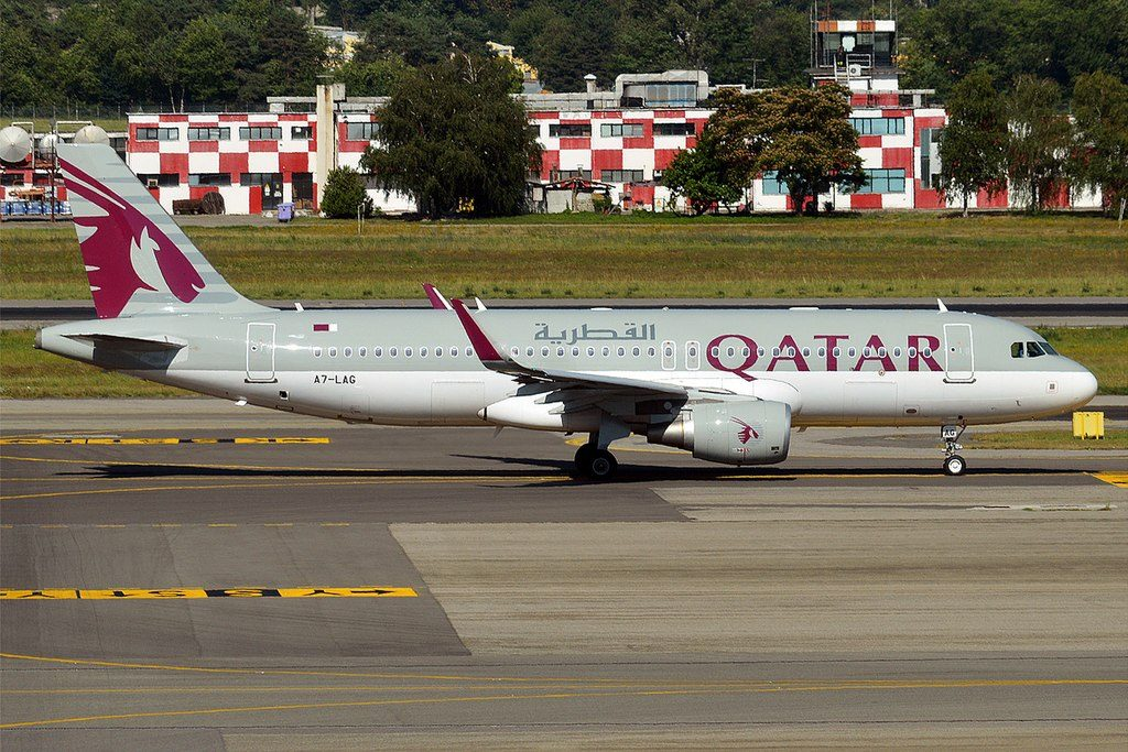Qatar Airways A7 LAG Airbus A320 214 at Milan Malpensa Airport