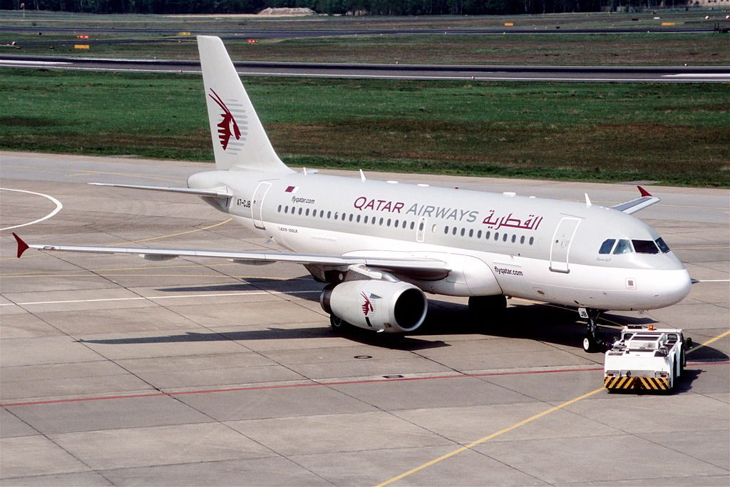 Qatar Airways Airbus A319 100 A7 CJB at Berlin Tegel Airport