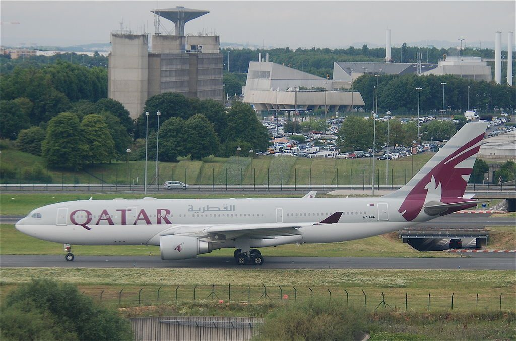 Qatar Airways Airbus A330 203 A7 ACA at Paris Charles de Gaulle Airport CDG