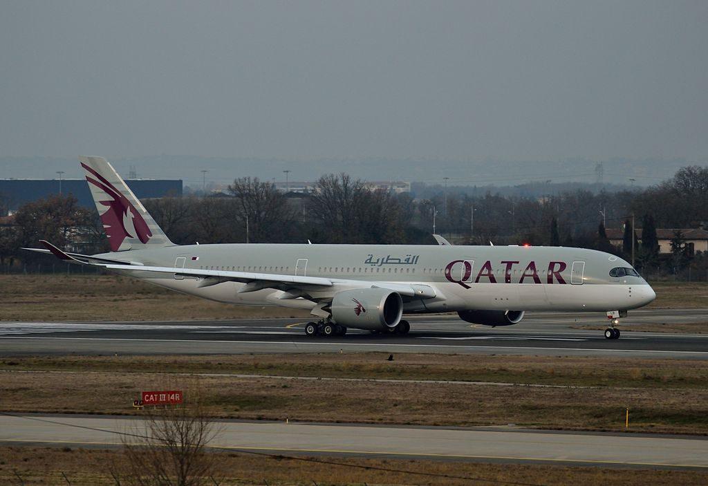 Qatar Airways Airbus A350 900 A7 ALB or F WZFB at Toulouse–Blagnac Airport