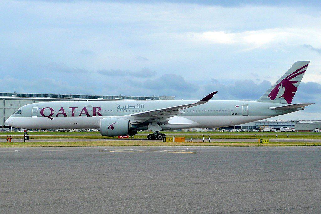Qatar Airways Airbus A350 900 A7 ALH at London Heathrow Airport