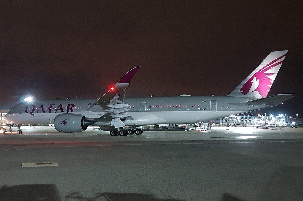 Qatar Airways Airbus A350 900 A7 AME at London Heathrow Airport