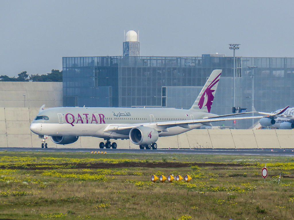 Qatar Airways Airbus A350 941 A7 ALE at Frankfurt Airport
