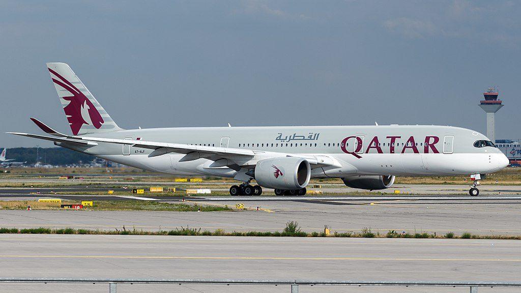Qatar Airways Airbus A350 941 A7 ALF at Frankfurt Airport