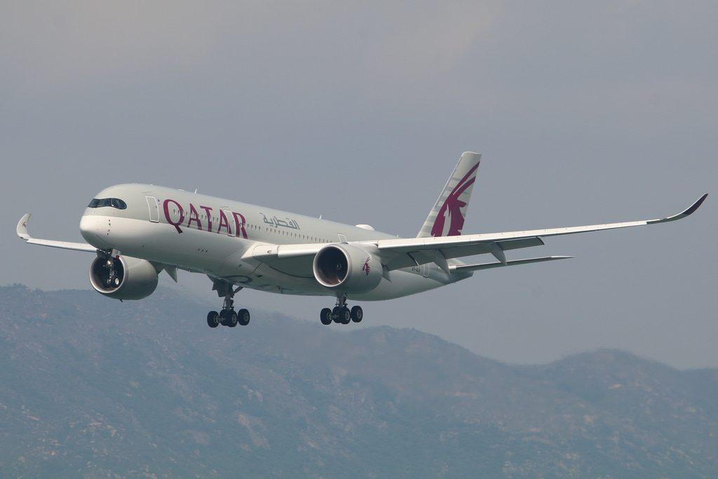 Qatar Airways Airbus A350 941 A7 ALR QR818 DOH HKG
