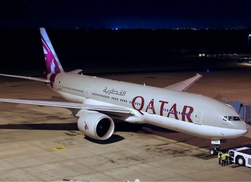 Qatar Airways Boeing 777 2DZ LR at Perth Airport