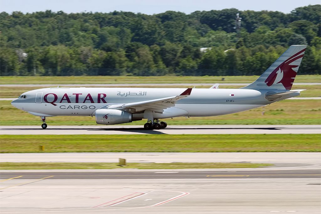Qatar Airways Cargo A7 AFJ Airbus A330 243F at Milan Malpensa Airport