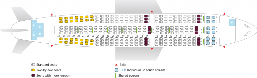 Seat Map and Seating Chart Airbus A310 300 Air Transat