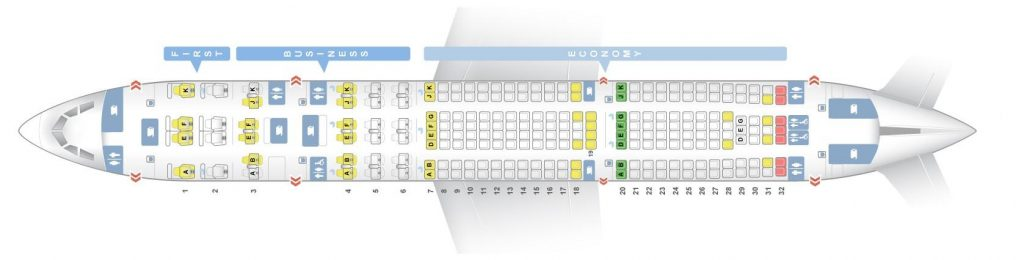 Seat Map and Seating Chart Airbus A330 200 Qatar Airways V4
