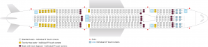 Seat Map and Seating Chart Airbus A330 300 Air Transat 375 seats