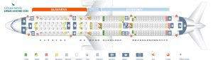 Seat Map and Seating Chart Airbus A350 900 Cathay Pacific