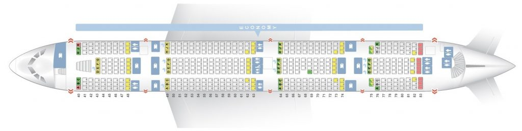 Seat Map and Seating Chart Airbus A380 800 Lower Deck Etihad Airways
