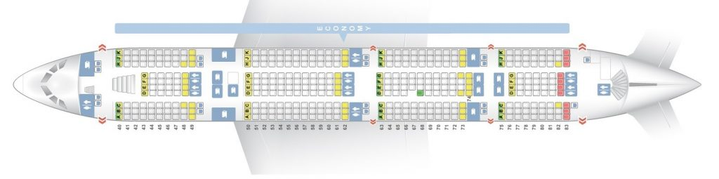 Seat Map and Seating Chart Airbus A380 800 Lower Deck Qatar Airways