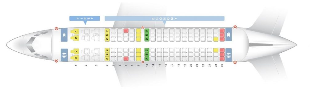 Seat Map and Seating Chart Boeing 737 700 Sun Country Airlines