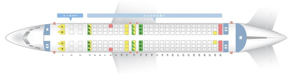 Seat Map and Seating Chart Boeing 737 800 Sun Country Airlines