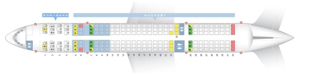 Seat Map and Seating Chart Boeing 757 200 Aer Lingus