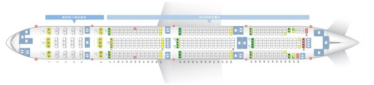 Seat Map and Seating Chart Boeing 777 300ER Emirates Two Class
