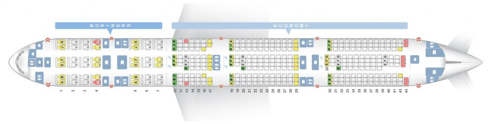 Seat Map and Seating Chart Boeing 777 300ER Qatar Airways V1