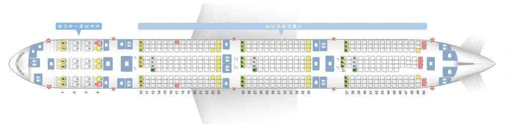 Seat Map and Seating Chart Boeing 777 300ER Qatar Airways V2