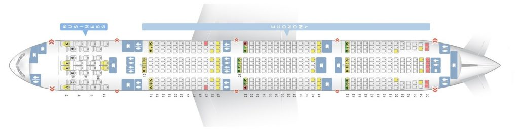 Seat Map and Seating Chart Boeing 777 300ER Two Class V1 Etihad Airways