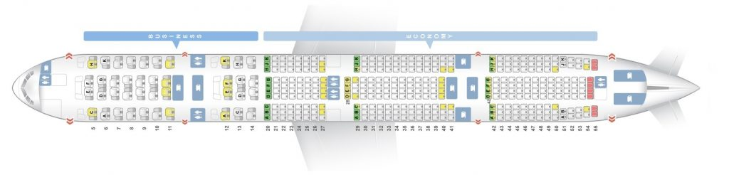 Seat Map and Seating Chart Boeing 777 300ER Two Class V2 Etihad Airways