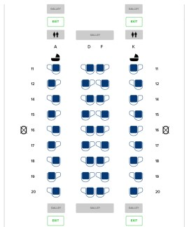 Seat Map and Seating Chart Boeing 787 10 Dreamliner Singapore Airlines Business Class