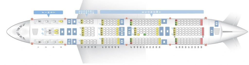 Seat Map and Seating Chart Singapore Airlines Airbus A380 800 Lower Deck Four Class V1