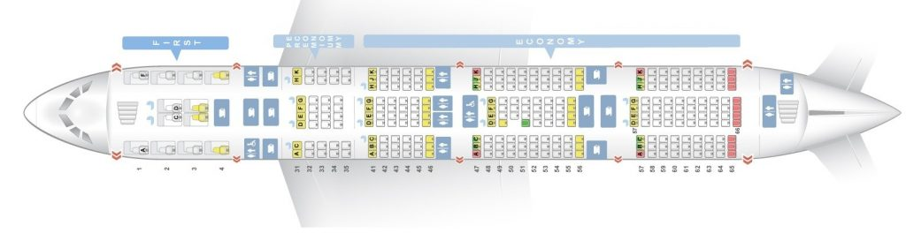 Seat Map and Seating Chart Singapore Airlines Airbus A380 800 Lower Deck Four Class V2