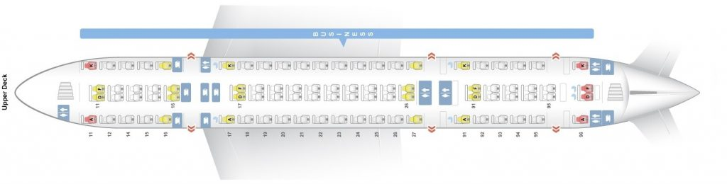 Seat Map and Seating Chart Singapore Airlines Airbus A380 800 Upper Deck Four Class V2