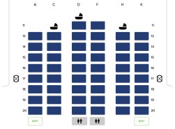 Seat Map and Seating Chart Singapore Airlines Boeing 777 300 Business Class