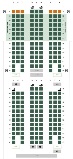 Seat Map and Seating Chart Singapore Airlines Boeing 777 300 Economy Class