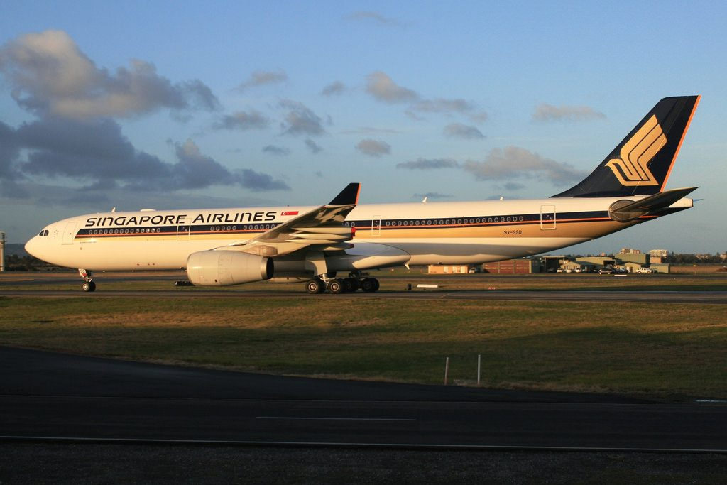 Singapore Airlines 9V SSD Airbus A330 300 at Adelaide Airport