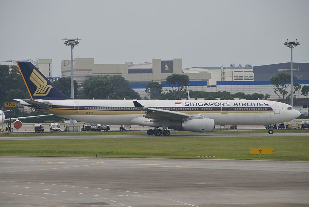 Singapore Airlines Airbus A330 300 9V STO at Singapore Changi Airport