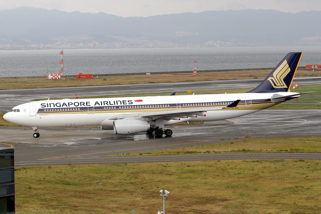 Singapore Airlines Airbus A330 343X 9V SSC at Kansai International Airport