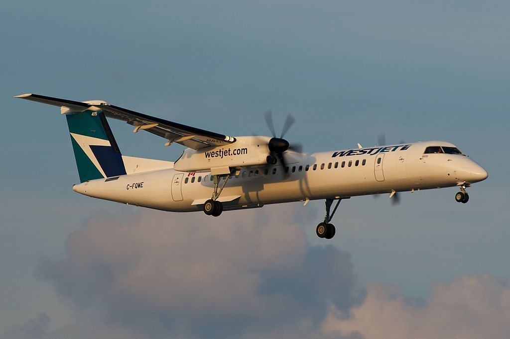 WestJet Encore Bombardier Dash 8 Q400 C FQWE at Toronto Pearson International Airport