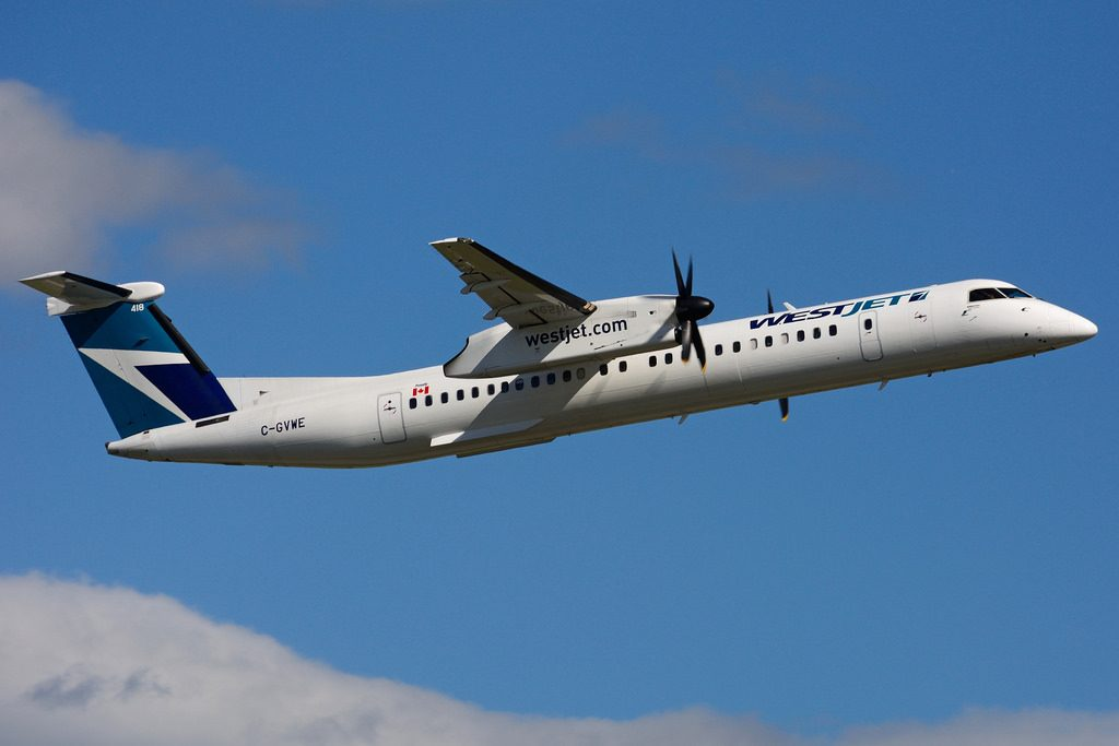 WestJet Encore Bombardier Dash 8 Q400 C GVWE Turboprop Aircraft Photos