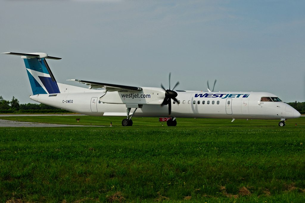 WestJet Encore Bombardier Dash 8 Q400 C GWEQ Turboprop Aircraft