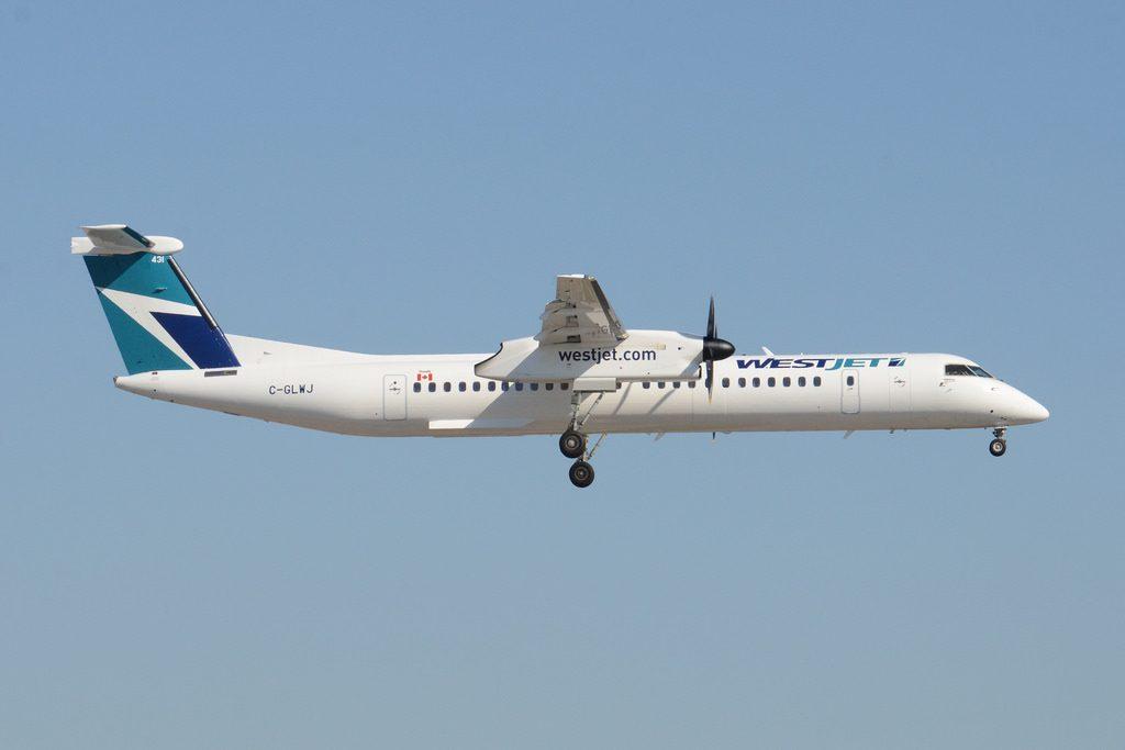 WestJet Encore C GLWJ Bombardier DHC 8 402 Q400 at CYYZ