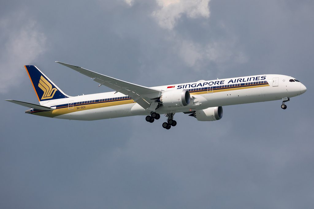 9V SCC Singapore Airlines Boeing 787 10 Dreamliner at Changi Airport Singapore SIN WSSS