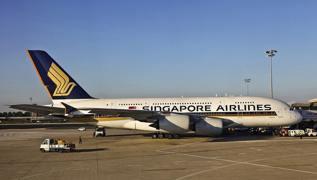 9V SKK Airbus A380 800 of Singapore Airlines at Paris Charles de Gaulle Airport