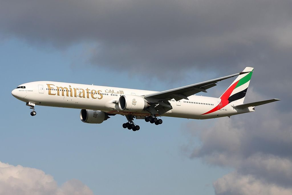 A6 EBJ B777 36NER Emirates at Frankfurt Airport