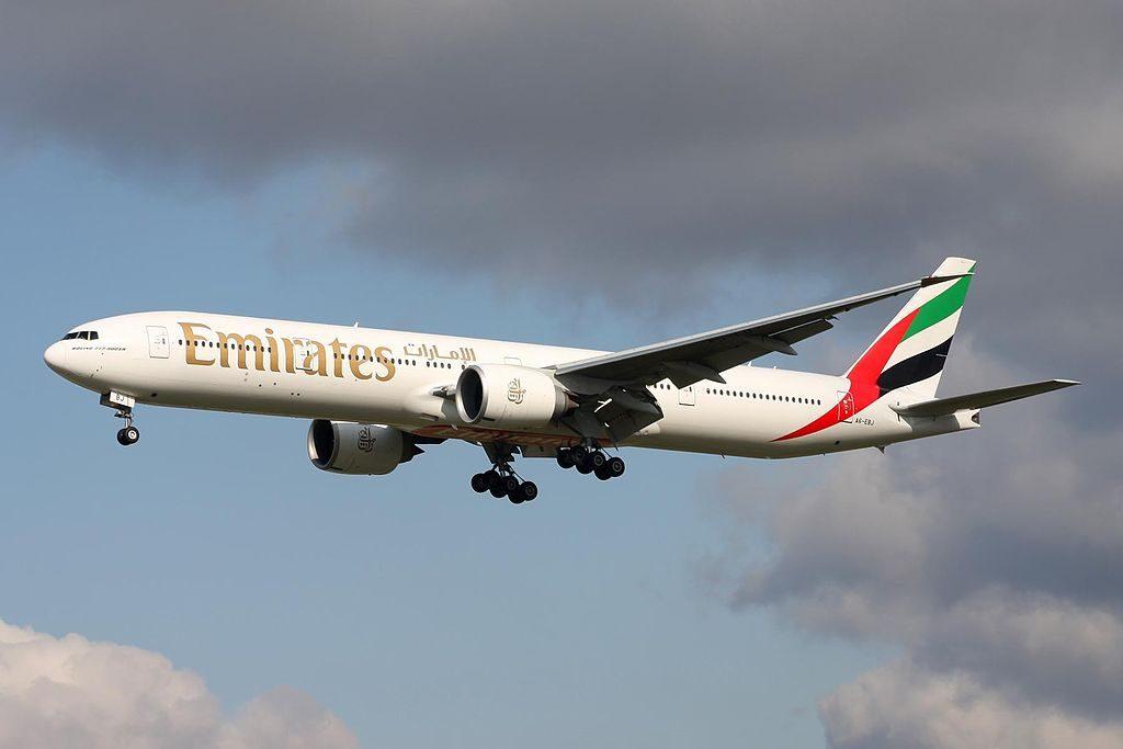 A6 EBJ B777 36NER Emirates at Frankfurt Airport